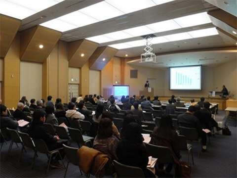 熊本県小児科医学術大会での講演の模様①