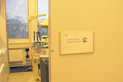 歯科衛生士の担当の名前が書いてある診療室