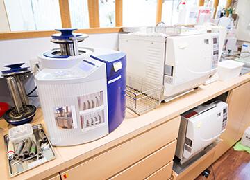 しっかりとした滅菌消毒体制